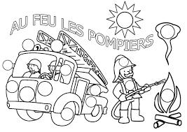 Camion De Pompier 40 Transport Coloriages À Imprimer