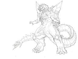 Download Coloring Pages Godzilla Page Eassume Of Animals