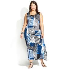 calvin klein size sleeveless geo print maxi dress lyst