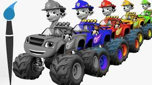 Learn Colors With Pups On Monster Trucks Machines - 2D Trucks ... Car Carrier Truck With Spiderman Cartoon For Kids And Nursery Lightning Mcqueen Cars Truck In Monster Shapes Songs Children The Song Ambulance Music Video Youtube Garbage By Blippi Fire Engine For Videos Wheels On Original Rhymes Baby Finger Family Trucks Surprise Eggs Titu Recycling Twenty Numbers