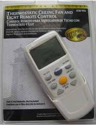 hton bay thermostatic ceiling fan light remote control manual