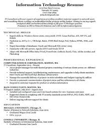 Technical Support Representative Resume Sample For Information Technology Download Tech Customer Service