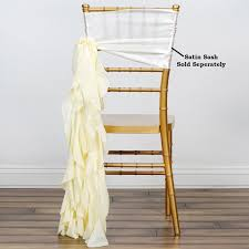 Ivory CHIFFON Curly CHAIR SASH Wedding Party Decorations WHOLESALE ... Free Shipping 50pcs Lot Wedding Decoration Chair Cover Sashes Secohand Chairs And Tables Covers Whosale Indoor Simple Paper For Rent Spandex Navy Blue At Bridal 10 Pack Satin Gold Your Inc 2019 Two Sample Birthday Party Banquet And Pictures To Pin On Universal With Sash Discount Amazoncom Balsacircle Eggplant New Bows 15 X 275cm Fuchsia Black Polyester Bow Ties Cheap Stretch Folding White