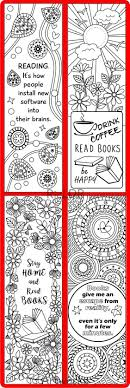 Printable 8 Coloring Bookmarks Four 4 With Quotes And