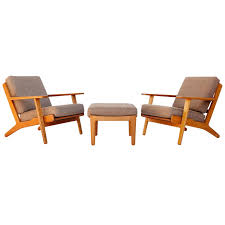 Pair Of Hans Wegner Lounge Chairs Ottoman GE290 GETAMA, Teak, Denmark, 1953 Hans Wegner Moma J Designing Danish Modern Vitra Design Ap27 Chair And Ottoman Ap Stolen Denmark 1950s Mid Century Style Arm Lounge Chairs Azzo Molded Plastic Ding Eames Decco Ch07 Shell Carl Hansen Son Midcentury 10 Popular Fniture Replicas That Are Now Outlawed By Uk La Authentic Solid Teak Rocking W New Cushions Mcm Rocker Ge 290 Plank Modway Presidential Midcentury With Faux Leather Seat In Black Have You Seen These Two Beauties Before These