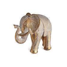 möbel wohnen dekofigur elefant grau keramik figur