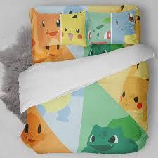 Bulbasaur Charmander Squirtle Pikachu Bedding Set – Block