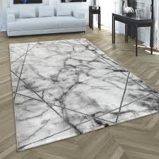 teppich wohnzimmer kurzflor modernes abstraktes muster marmor optik grau silber grösse 160x230 cm