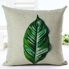 Green Sofa Throw Pillow Case Spring Leaf Cushion Cover Leaves Garden Almofadas Botanical Funda Cojines Home