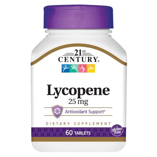 21st Century Lycopene Dietary Supplement - 25mg, 60 Tablets