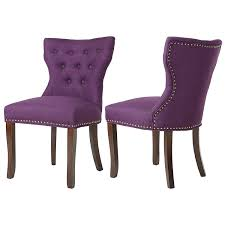 DAGONHIL Fabric Dining/Accent Chairs (Set Of 2) With Brown Solid Wooden  Legs,Nailed Trim, (Purple) Ax Mgaret Purple Velvet Ding Chair Contemporary Room Design Ideas Showcasing Rectangle White Chairs First Fniture Nella Vetrina Visionnaire Ipe Cavalli Single Katie Arm Bri Kitchen Fabric Metal Frame Modern Set Industrial Vintage Wood Iron Antique Finish Cello Buy Wrought Chairspurple The Store Oak Leather And Chairs Archives Cumbria Wooden Effect Legs Living With Back And Arms Also Four Glass Round Table Natural Pine Tabletop