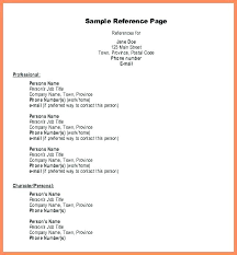 Resume Reference Template For Sample Professional Bio Example