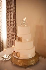 Dreamy Beach White And Gold Wedding Cake Elegant