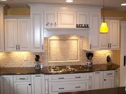 Kitchen Countertop Decorative Accessories by Kitchen Nice Brick Backsplash In Kitchen With White Cabinet And