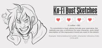 Ko Fi Bust Sketches Open
