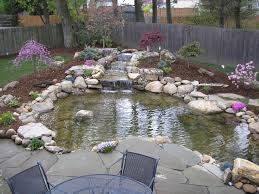 Beautiful! This Is The Design I Would Pick, I Would Just Fill In ... Very Small Backyard Pond Surrounded By Stone With Waterfall Plus Fish In A Big Style House Exterior And Interior Care Backyard Ponds Before And After Small Build Great Designs Gardens Design Garden Ponds Home Ideas Fniture Terrific How To Your Images Natural Look Koi Designs Creek And 9 To A For Goldfish