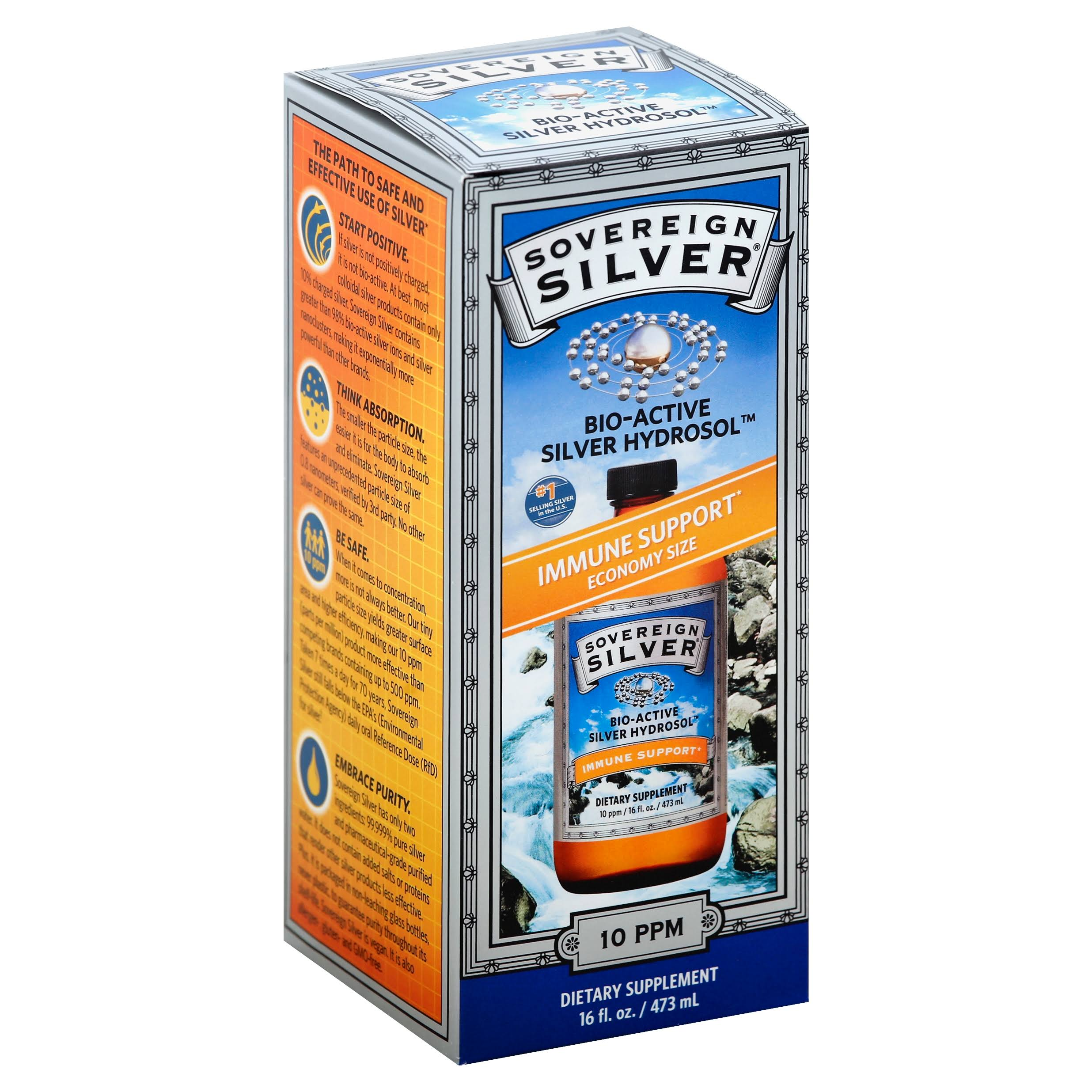 Sovereign Silver Bio-Active Silver Hydrosol, 10 ppm - 16 fl oz bottle