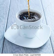 Pouring Hot Coffee Into Cup