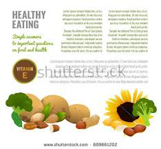 Medical Article Or Informative Poster Template With Food Source Illustrations And