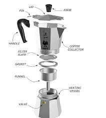 Moka Pot With Parts Before First Use