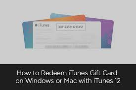 How to Redeem iTunes Gift Card on Windows or Mac with iTunes 12