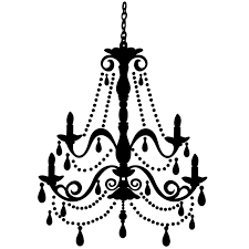 White Chandelier Clip Art Black Clipart Intended For Elegant Home And Prepare