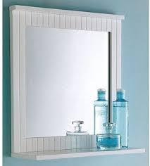 maine badezimmer spiegel holz rahmen zur wandmontage mit ablage für kosmetik weiß