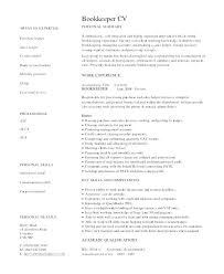 Bookkeeper Resume Sample Example Accounting Samples
