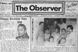 The Observer Was Launched One Year Ago By Way Of Indulging Caprice