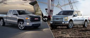 2015 GMC Sierra Vs 2015 Ford F-150 Gmc Comparison 2018 Sierra Vs Silverado Medlin Buick F150 Linwood Chevrolet Gmc Denali Vs Chevy High Country Car News And 2017 Ltz Vs Slt Semilux Shdown 2500hd 2015 Overview Cargurus Compare 1500 Lowe Syracuse Ny Bill Rapp Ram Trucks Colorado Z71 Canyon All Terrain Gm Reveals New Front End Design For Hd