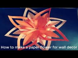 Origami Star Flower Making For Wall Decoration Easy Paper Crafts Enlighten