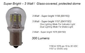 bright 3 watt 1076 1156 1157 bulbs pilotlights net