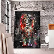 leinwand bild abstrakt löwe natur deko wandbilder kunstdruck canvas ebay