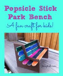 Disclosure Affiliate Popsicle Stick Park Bench