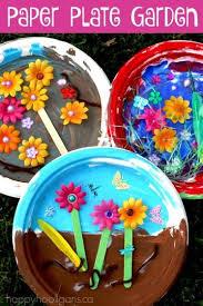 Kids Can Make A Paper Plate Garden To Celebrate Spring Or For Flower Unit Preschool GardenPreschool Arts
