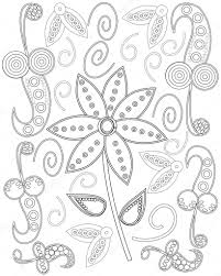 Coloring Book Page For Adults Hand Drawn Elephant Flowers Relax And Meditation Vector