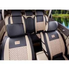 5 Seat Pu Leather Car Seat Covers Universal Size M L For Jeep Ford ...