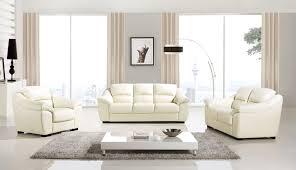 Diva 3 Piece Italian Top Grain Cream Leather Sofa Set USA