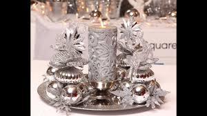 Christmas Centerpiece Tutorial No10 SUBTITLE IN ENGLISH Silver Centre De Table Noel Gris Tutoriel