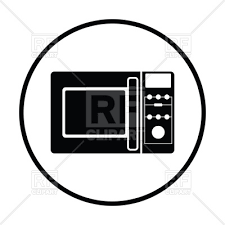 Thin circle design of microwave oven icon royalty free vector vector