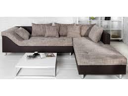 canap d angle marron pas cher canapé d angle en daim royal sofa idée de canapé et meuble maison