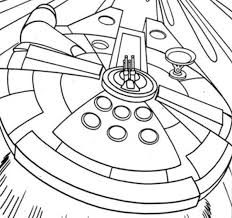 Star Wars Coloring Pages Millenium Falcon