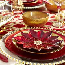 Spode Christmas Tree Juice Glasses by This Shimmering Poinsettia Glass Salad Plate Makes Everything Seem