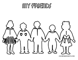 Friendship Coloring Pages For Kindergarten Archives Free