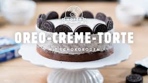 oreo creme torte mit schokoboden backen mit hofer