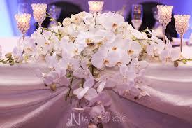 La Vie En Rose Wedding Reception Drape Centerpiece