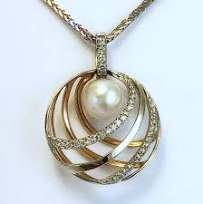 100 Pearl Design Elma Gill 18k Pendant Stephen Vincent