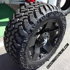 100 Truck Rims 4x4 Nitto Trail Grappler KmcxdseriesRockstar775Black
