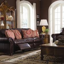 Thomasville Leather Sofa Recliner by Thomasville Leather Reclining Sofa 84 With Thomasville Leather