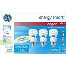 ge energy smart spiral cfl 13 watt t2 spiral 3 pack walmart